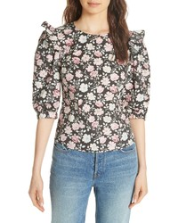 La Vie Rebecca Taylor Ariane Rose Stretch Cotton Top
