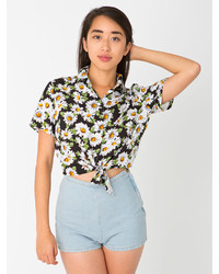 Women's Short Sleeve Button Down Shirts from American Apparel ...