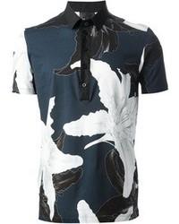 Les Hommes Floral Print Polo Shirt