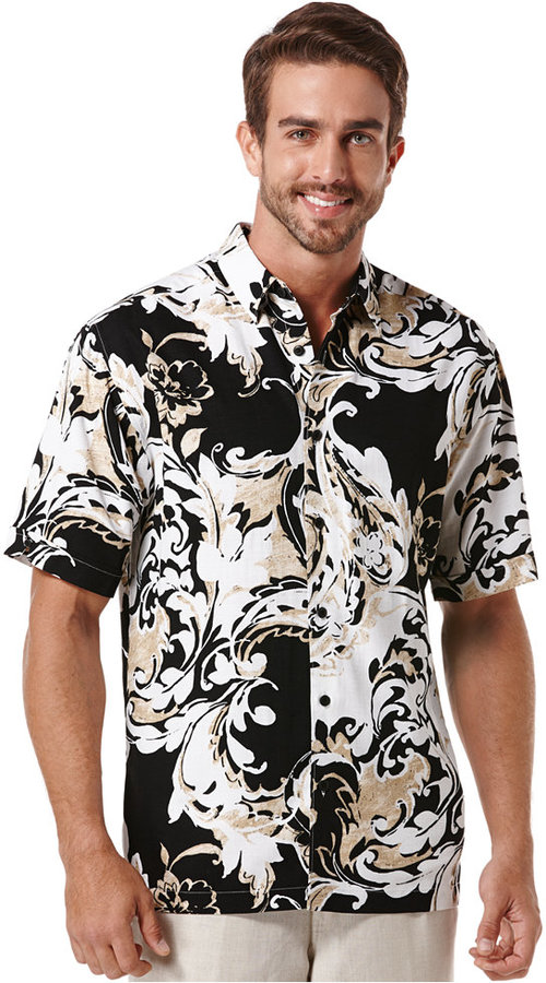 Cubavera Short Sleeve Floral Printed Shirt | Where to buy & how to ...