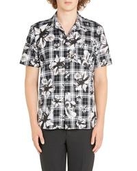 Neil Barrett Tartan Floral Sport Shirt