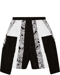 Peter Pilotto Cate Embroidered Cotton And Silk Blend Shorts