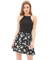 Forever 21 Floating Daisies Skater Skirt