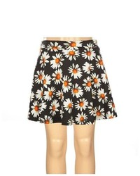 Full Tilt Daisy Print Girls Ponte Skater Skirt