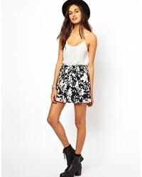 Glamorous Skater Skirt In Ditsy Floral