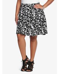 Torrid Textured Floral Skater Skirt