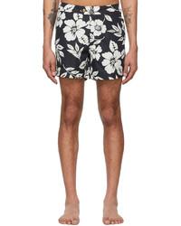 Tom Ford Black Nylon Floral Swim Shorts