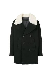 Neil Barrett Fur Collar Double Breasted Coat
