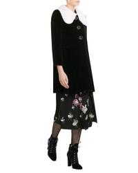Marc Jacobs Velvet Coat With Mink Fur Collar