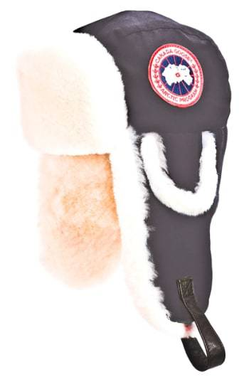 Canada Goose Arctic Tech Pilot Hat With Genuine Shearling Lining