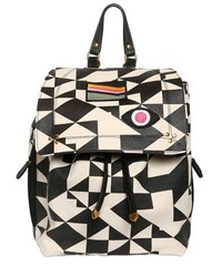 Jerome dreyfuss florent graphic cotton canvas backpack medium 136317