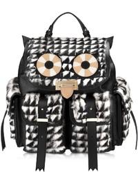Letterbox geometric fur owl rucksack medium 136318