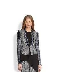Black and White Geometric Blazer