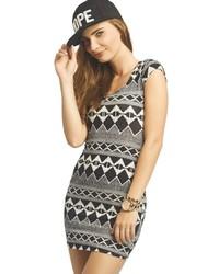 ... Wet Seal Black White Tribal Dress ...
