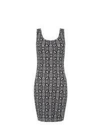 New Look Monochrome Aztec Print Bodycon Dress