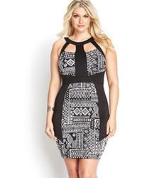 Forever 21 Tribal Print Scuba Knit Dress