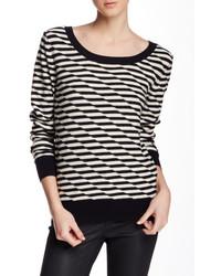 14th union disrupted stripe crew neck sweater medium 433563