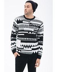 21men 21 Abstract Geo Patterned Sweater