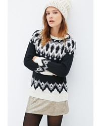 Forever 21 Abstract Geo Patterned Sweater