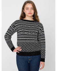 American apparel patterned ski sweater medium 125679