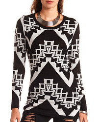 Charlotte Russe Long Sleeve Aztec Tunic Sweater
