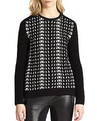 Faith connexion geometric jacquard sweater medium 433566