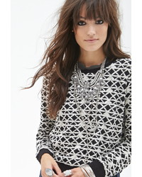 Forever 21 Geo Pattern Sweater