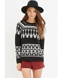 Forever 21 Geo Patterned Sweater