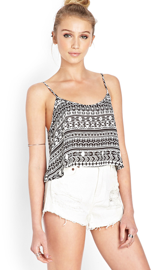 5c50891edf09d ... Tops Forever 21 Tribal Print Cami ...