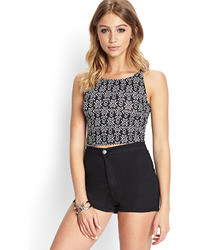Tribal print crop top medium 33698