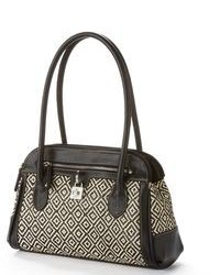 Chaps geometric straw satchel medium 86816