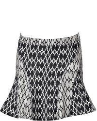 Derek Lam 10 Crosby Intarsia Knit Flared Mini Skirt