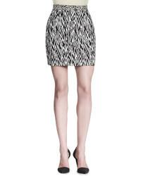 Abstract print miniskirt medium 9114