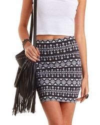 Charlotte Russe Tribal Print Bodycon Mini Skirt