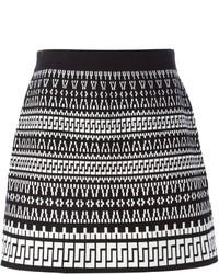 DKNY Geometric Jacquard Skirt