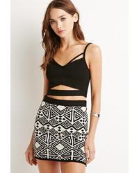 Forever 21 Geo Patterned Mini Skirt