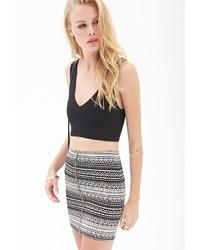 Forever 21 Zippered Geo Print Skirt