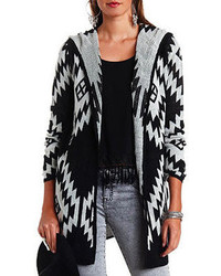 Charlotte Russe Hooded Aztec Duster Cardigan Sweater
