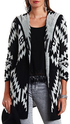 Charlotte Russe Hooded Aztec Duster Cardigan Sweater | Where to ...