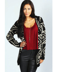 Faye aztec print cardigan medium 87141