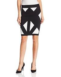 BCBGMAXAZRIA Natalee Geometric Jacquard Pencil Skirt