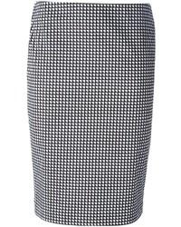 Armani Jeans Geometric Pattern Pencil Skirt