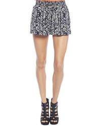 Black white tribal drawstring shorts medium 55362