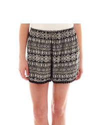 jcpenney Decree Crochet Trimmed Soft Shorts