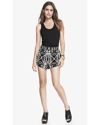 Express 2 Inch Black Aztec Print Soft Shorts