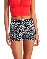 Charlotte Russe Tribal Printed High Waisted Shorts