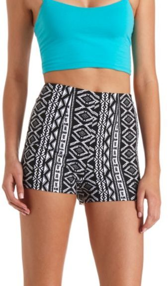 Charlotte Russe Tribal Printed High Waisted Shorts | Where to buy ...