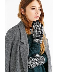 Urban Outfitters Fair Isle Plush Glove