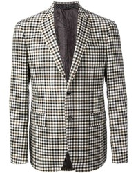 Black and White Gingham Blazer