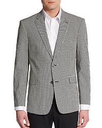 185758d0c46 Tommy Hilfiger Regular Fit Gingham Print Cotton Sportcoat